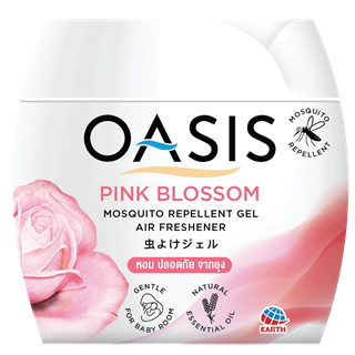 OASIS MOSQUITO REPELLENT GEL, AIR FRESHENER PINK BLOSSOM