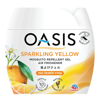 OASIS MOSQUITO REPELLENT GEL, AIR FRESHENER SPARKLING YELLOW