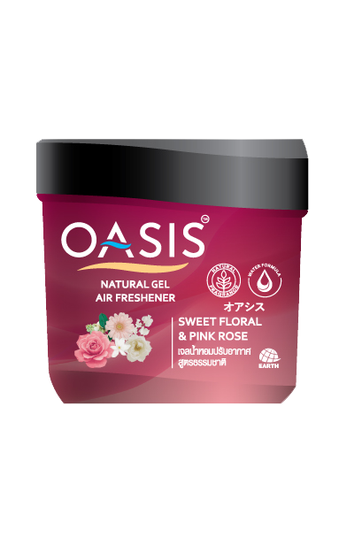 OASIS NATURAL GEL AIR FRESHENER SWEET FLORAL & PINK ROSE